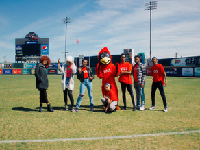 Red-y for action! The  Cardinals take center field to kick off The You Art Initiative!