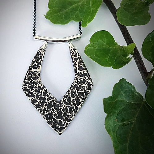 Textured Goddess Necklace | Sterling Silver