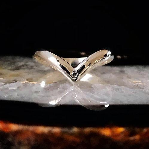 Salt & Pepper Diamond Silver Chevron | Size 6.25-6.5