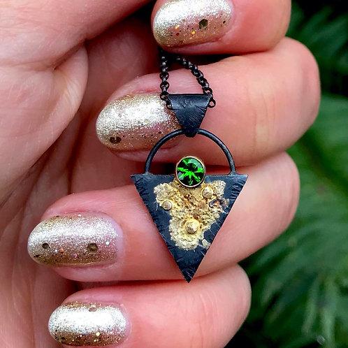 Golden Hour Necklace | Chrome Diopside | 14k & 18k Gold + Sterling Silver