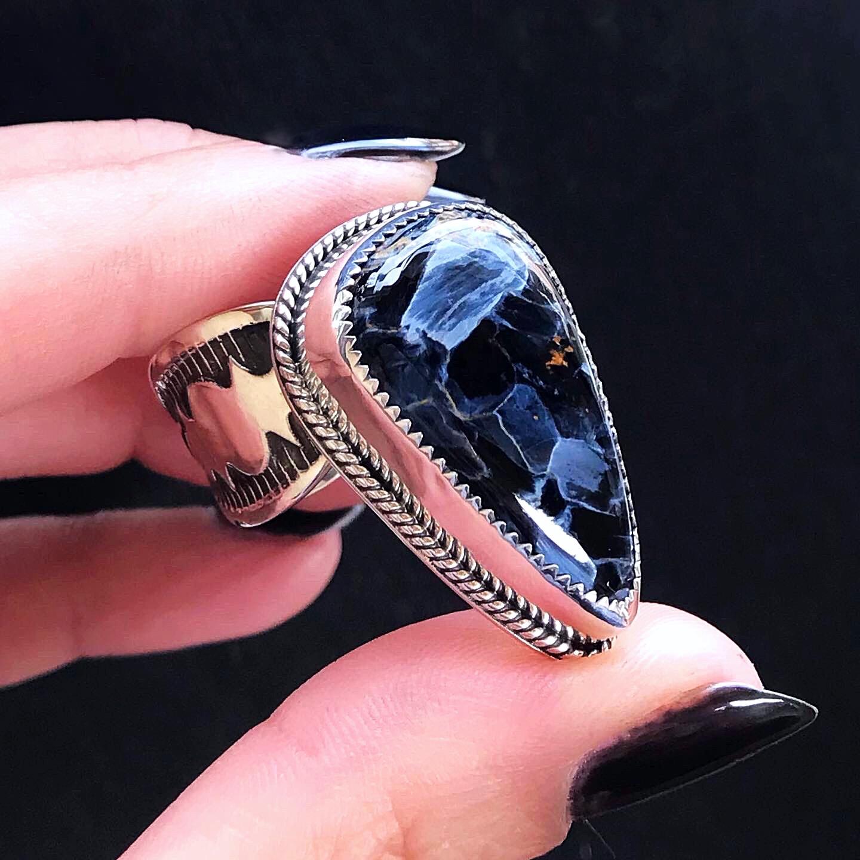 Pietersite ring by Black Fawn Jewelry