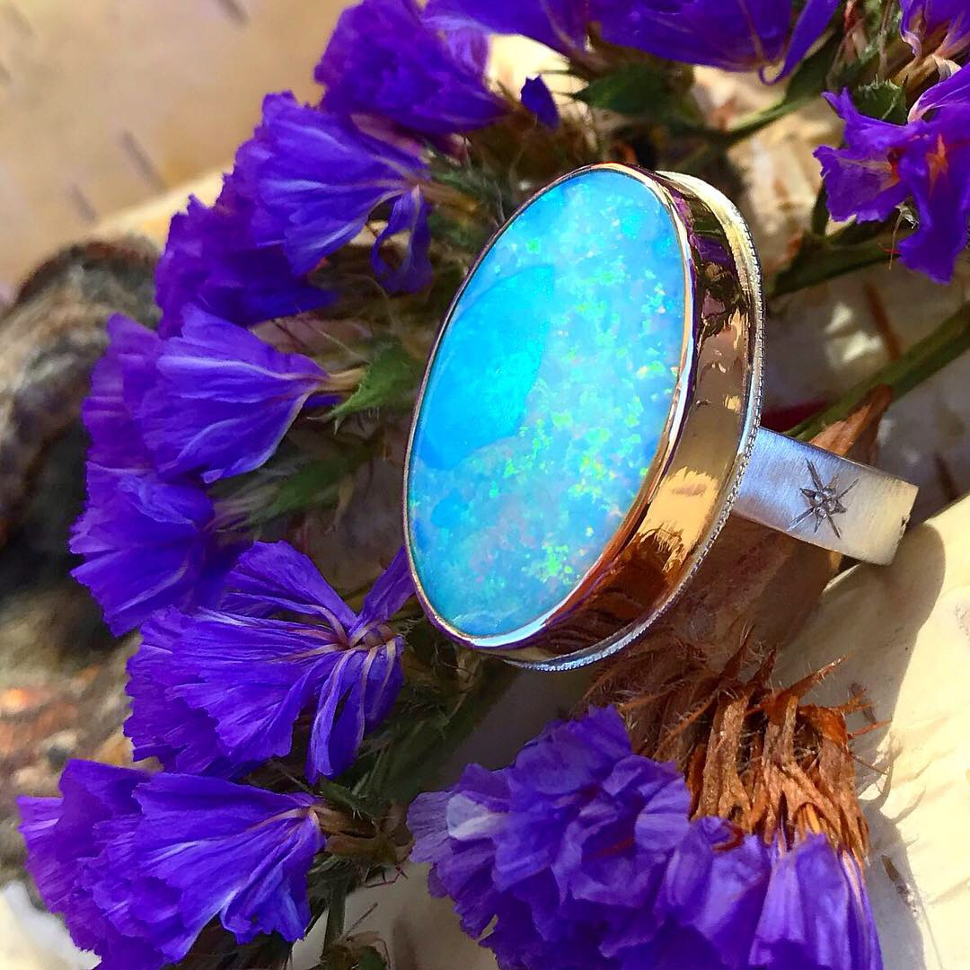 Opal Ring by Black Fawn Jewelry