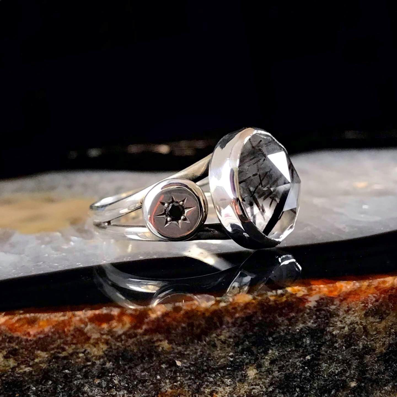 Black Diamonds and Rosecut Tourmalinated