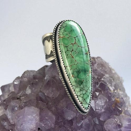 Australian Variscite Dagger Ring | Size 7-7.25 FIT