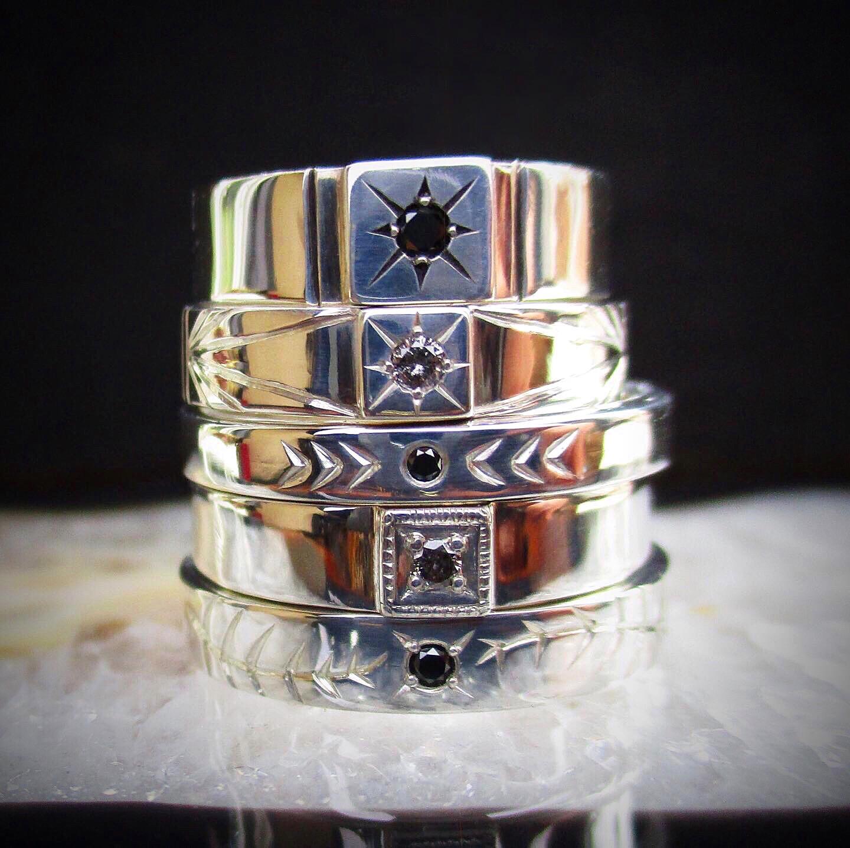 Diamond rings by Alicia Bucks