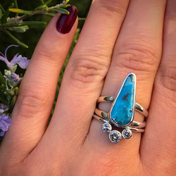 Persian Turquoise and Diamond Ring