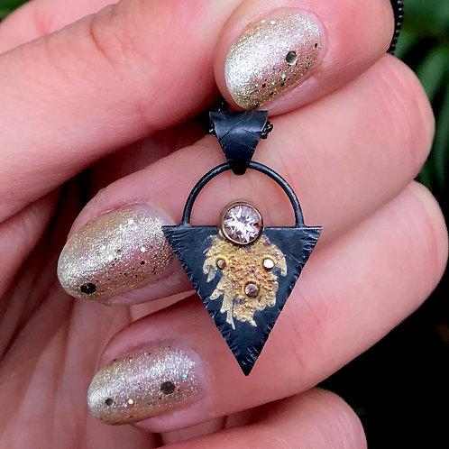 Golden Hour Necklace | Morganite | 14k Gold + Sterling Silver