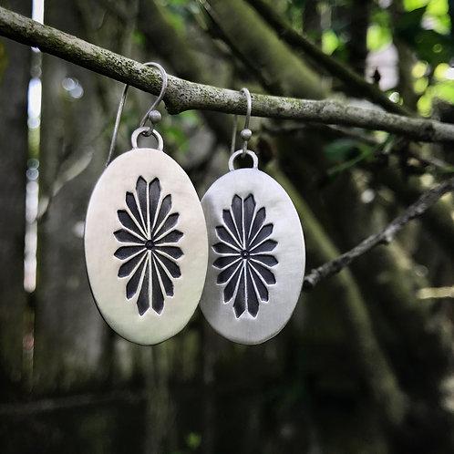 Sunburst Earrings | Sterling Silver