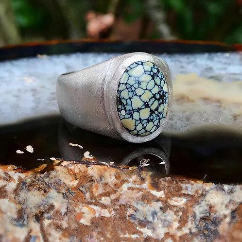 Large Signet Ring   New Lander   Stone Finish   Size 12.75-13
