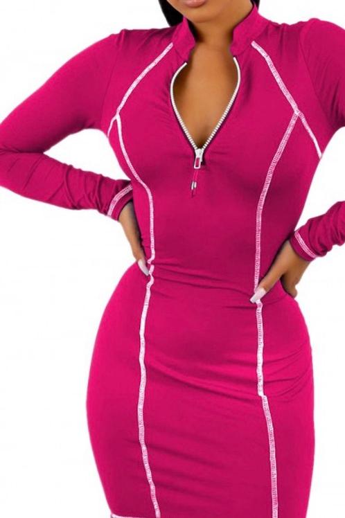 Stretchy full sleeve Bodycon Dress