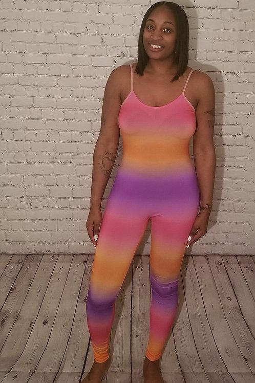 Tie Dye Print Catsuit