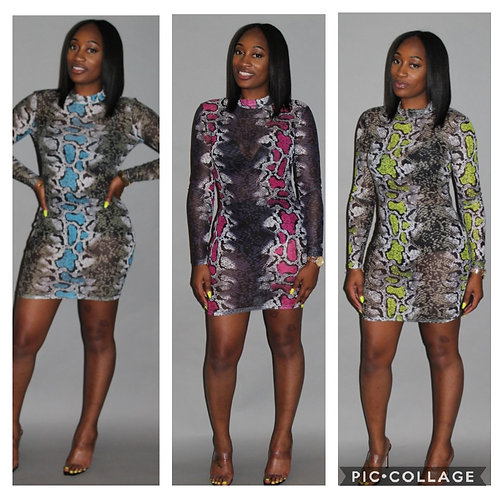 Fitted Sleeve Mini Dress
