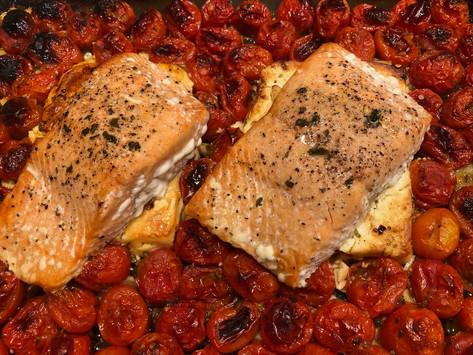 TikTok Baked Feta Salmon