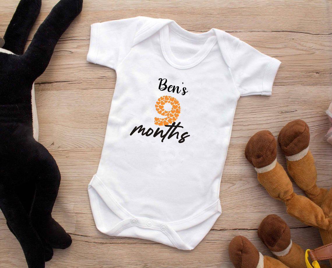 Milestone Baby Onsie Set /_ Babys First Year /_ Baby Shower /_ Cotton /_ Bodysuits