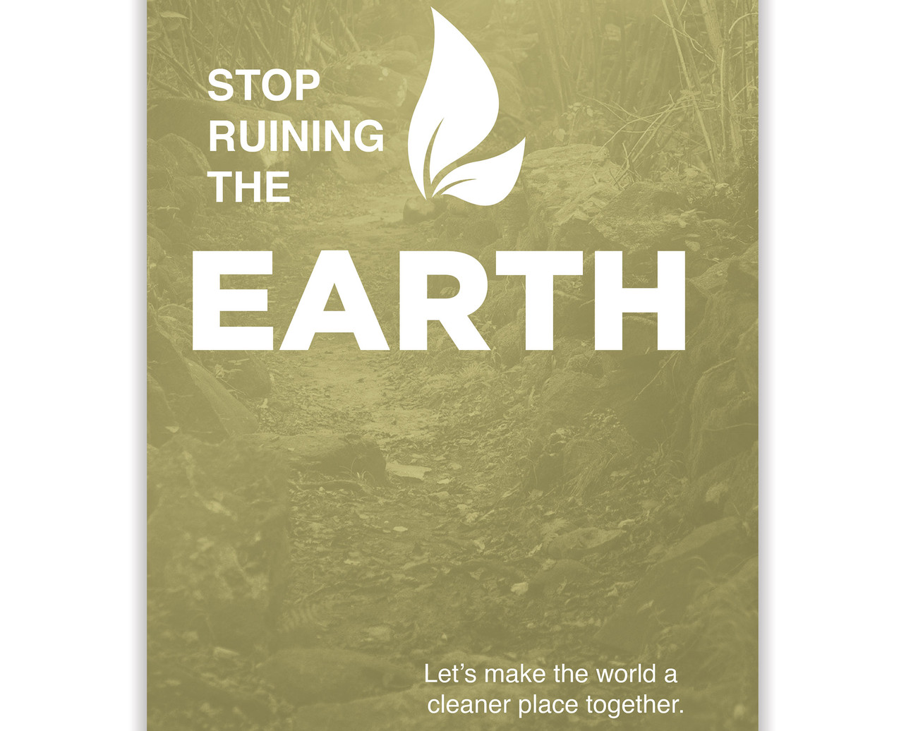 Earth Poster Better World Campaign