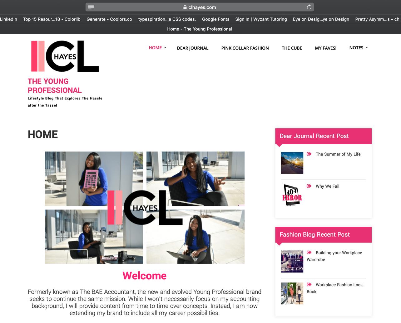CL Hayes website design