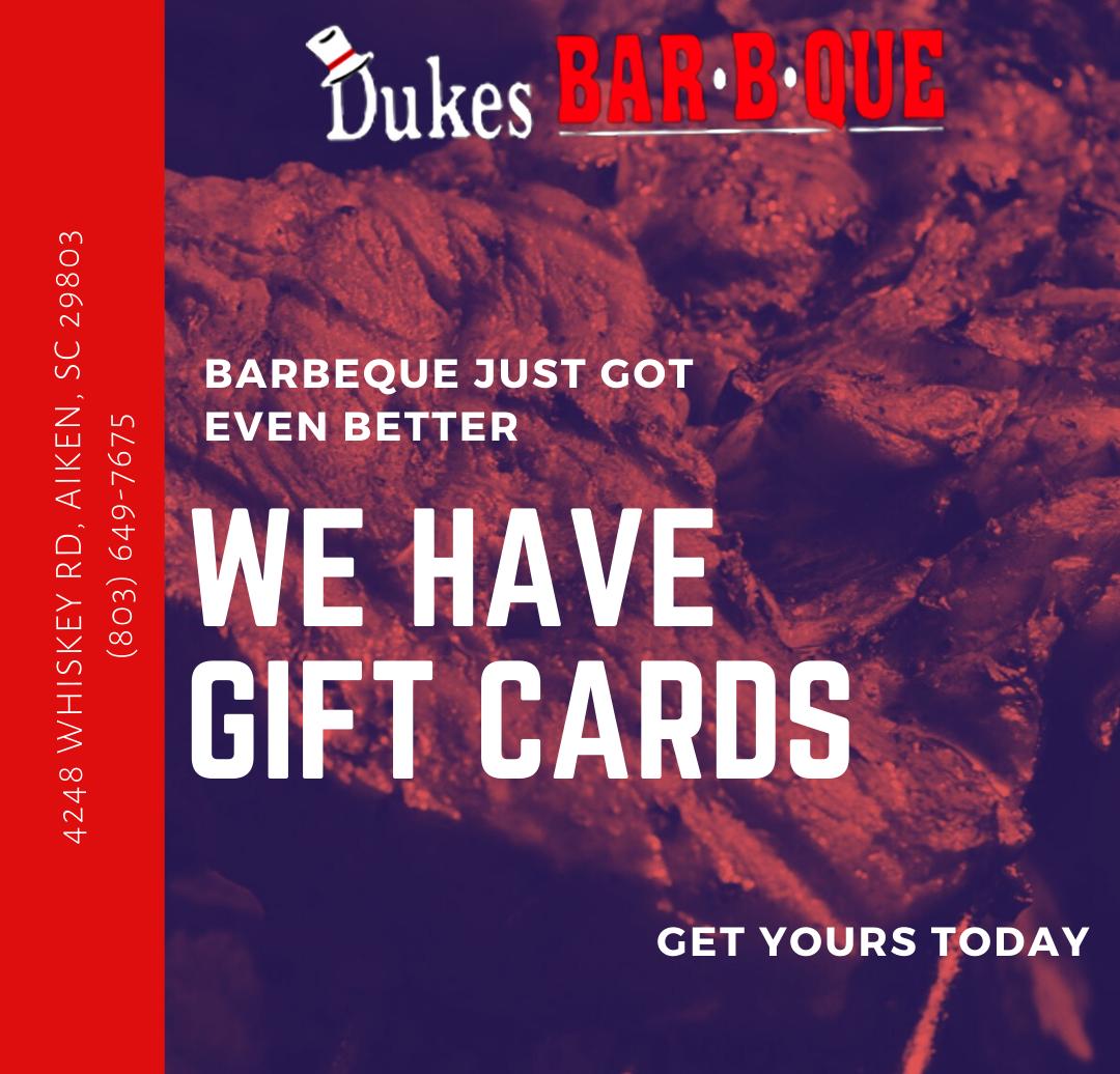 Dukes BBQ Gift Card Promo