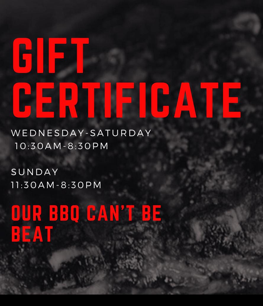 Dukes BB Gift Certificate