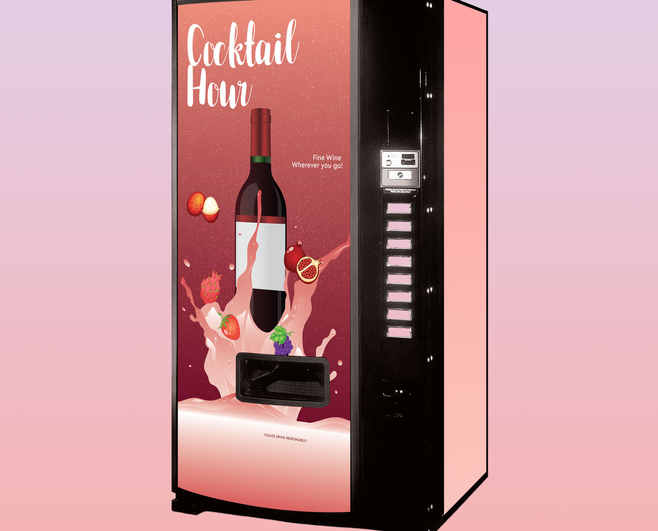 Cocktail Hour Vending Sign