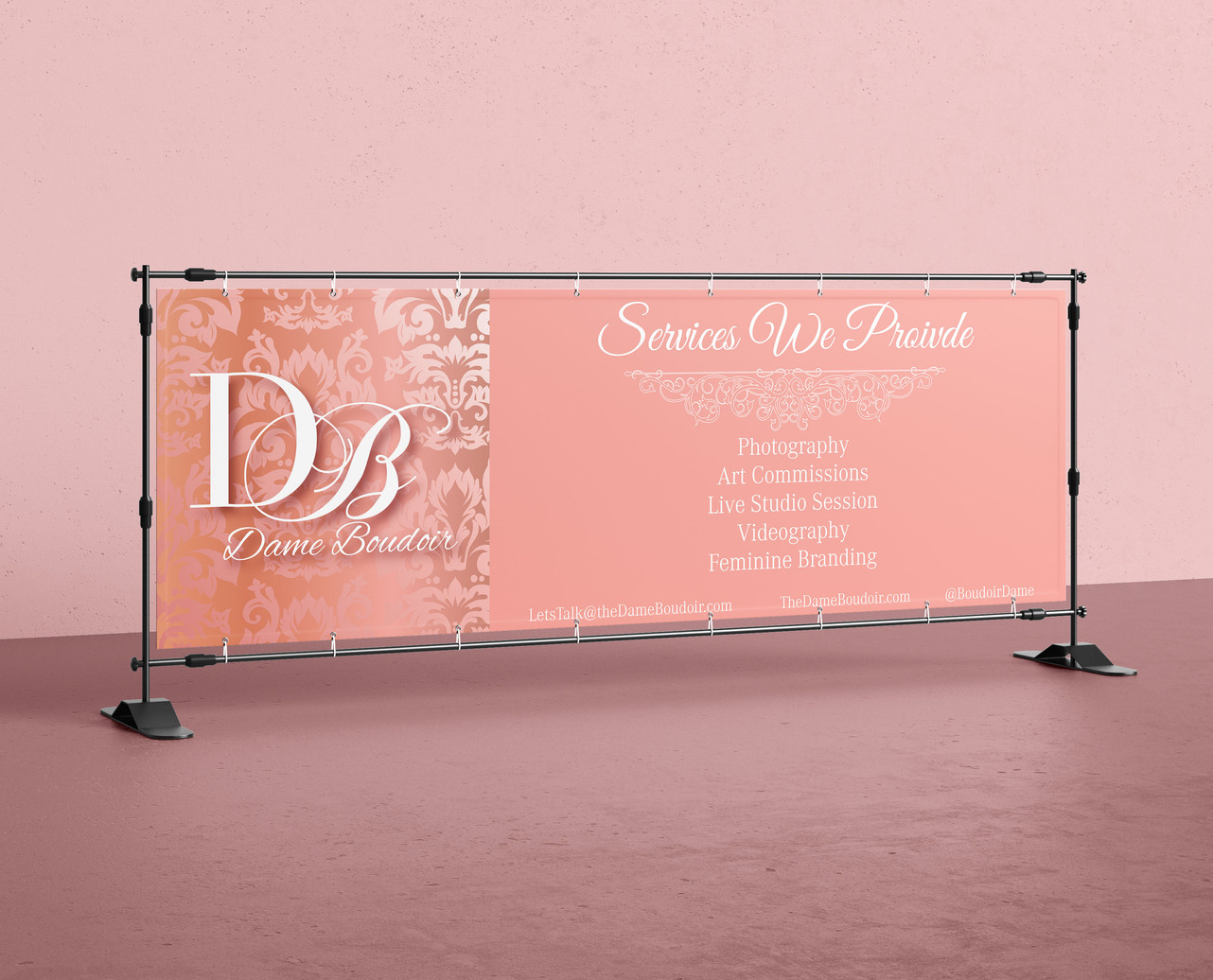 Dame Boudoir Banner Promotion
