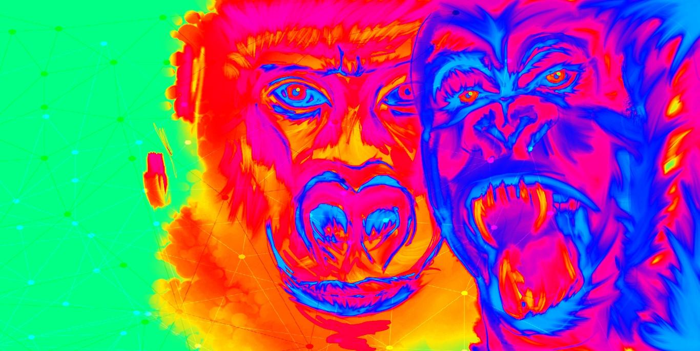 """""""Gorilla gone crazy"""""""