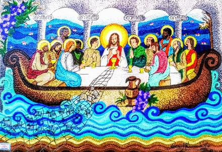 Santa Ceia com Vida no Barco