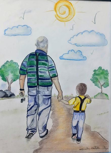 Um Amor Incondicional: avô e neto (Recíproca verdadeira).