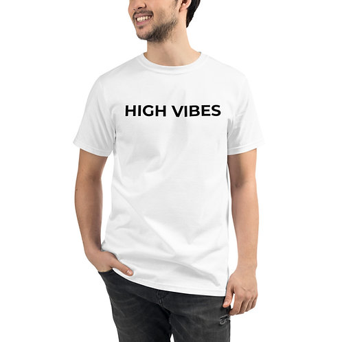 Organic High Vibes White Shirt