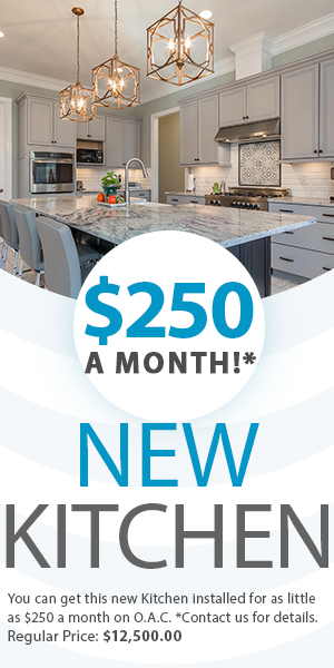 kitchen install available for financing ad
