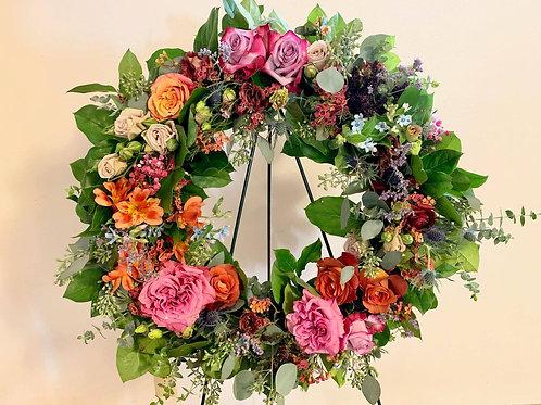 Wildflower Funeral Wreath