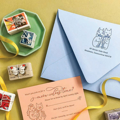 Nicole & Mark Wedding Collateral Illustrations