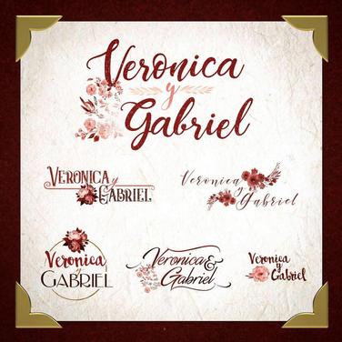 Veronica Wedding Logo Options