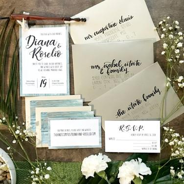 Diana & Roselio Wedding Invites
