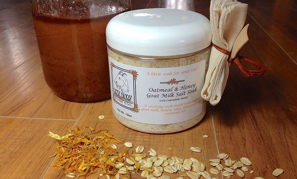 Oatmeal & Honey Goat Milk Salt Soak