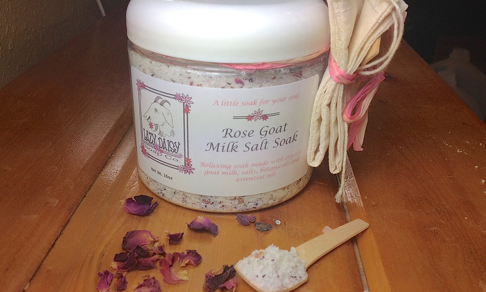 Rose Goat Milk Salt Soak