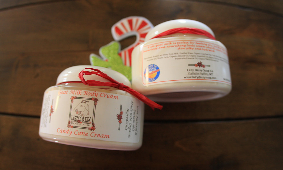 Candy Cane Goat Milk Body Cream