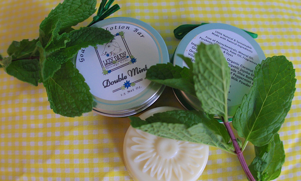 Double Mint Goat Milk Lotion Bar