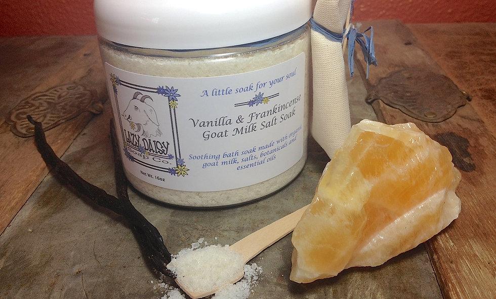 Vanilla & Frankincense Goat Milk Salt Soak