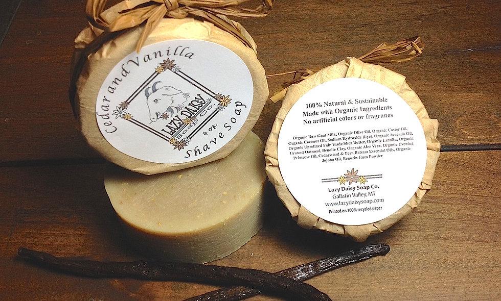 Cedar & Vanilla Shaving Soap