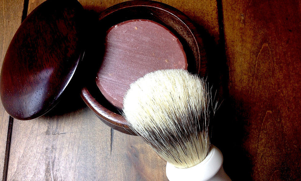 Shaving Bowl and Brush