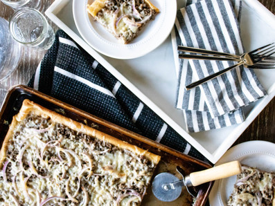 Beef and Gruyere Pizza