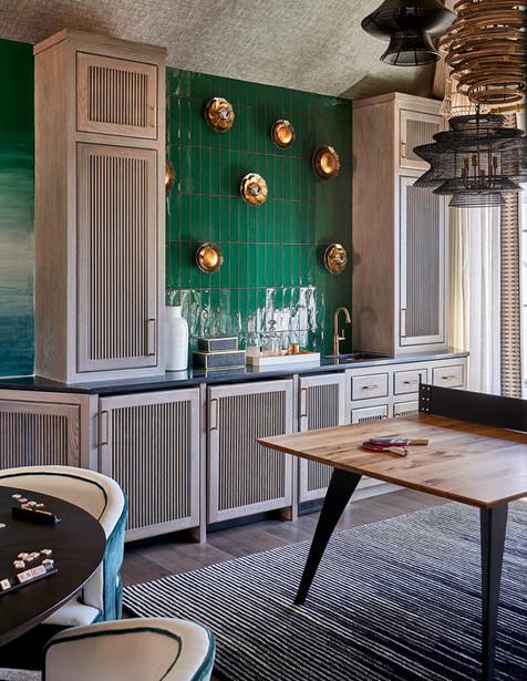 IDS Charlotte Designer Showhouse/ Southern Living SHowcase Home - Bonus Room Wet Bar