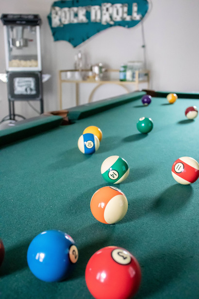 Fun & Family Game Room - Close up Billiards Table