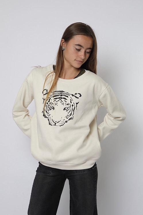 Polerón crudo tigre cuello polo