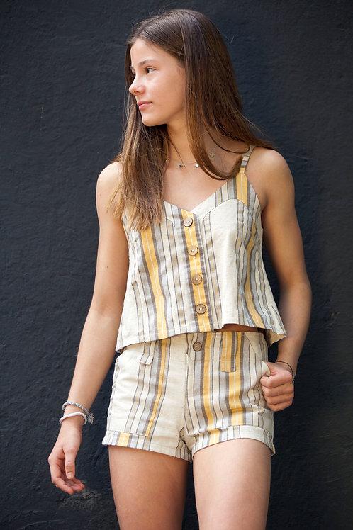 Blusa rayada amarilla