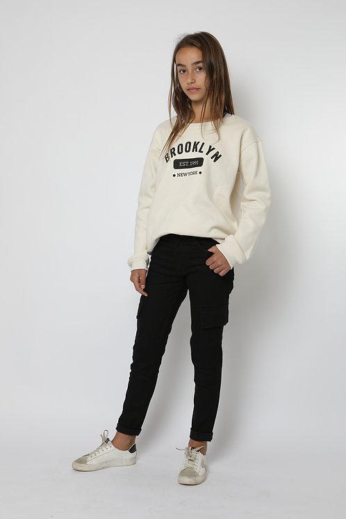 Jeans pitillo cargo negro