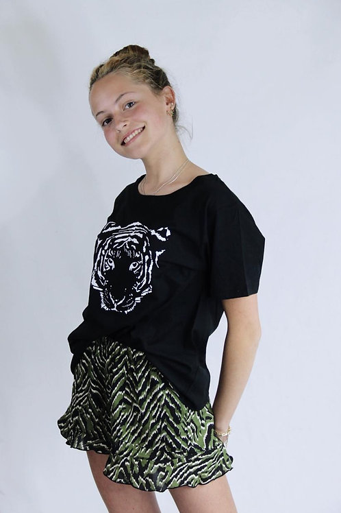 Polera negra Cara Tigre