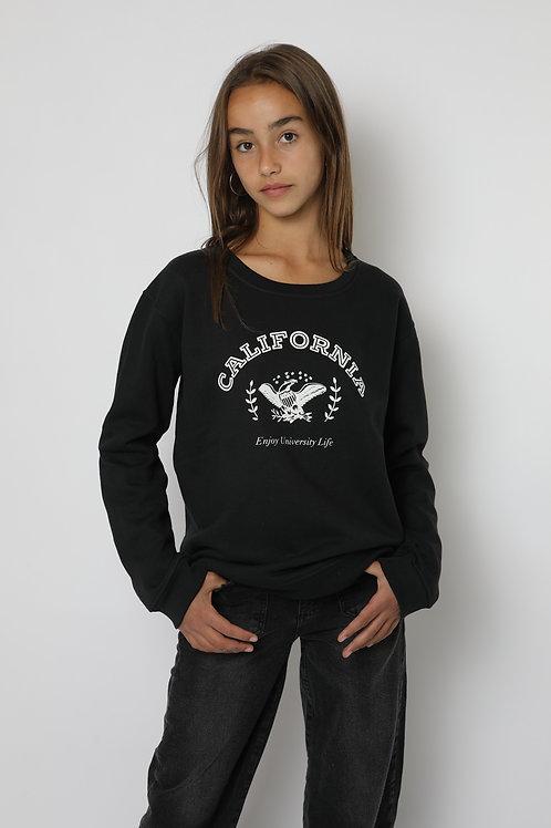 Polerón negro California cuello polo