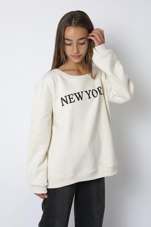 Polerón crudo New York cuello polo