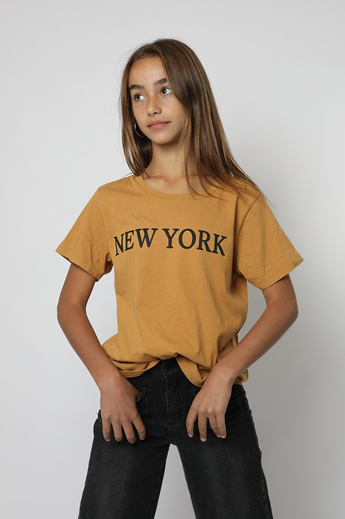 Polera New York amarilla